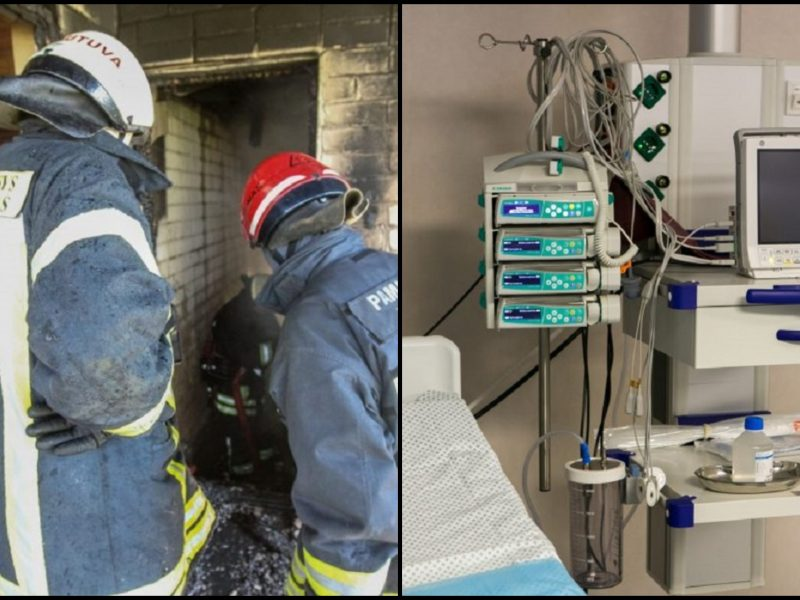 Tragiškos gaisro pasekmės: Šiaulių ligoninėje mirė kvėpavimo takus nudegusi moteris