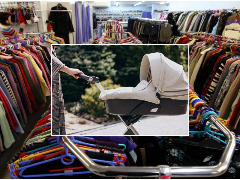 Klaipėdoje vaikas tapo vagilių priedanga: pavogtas prekes slėpė kūdikio vežimėlyje