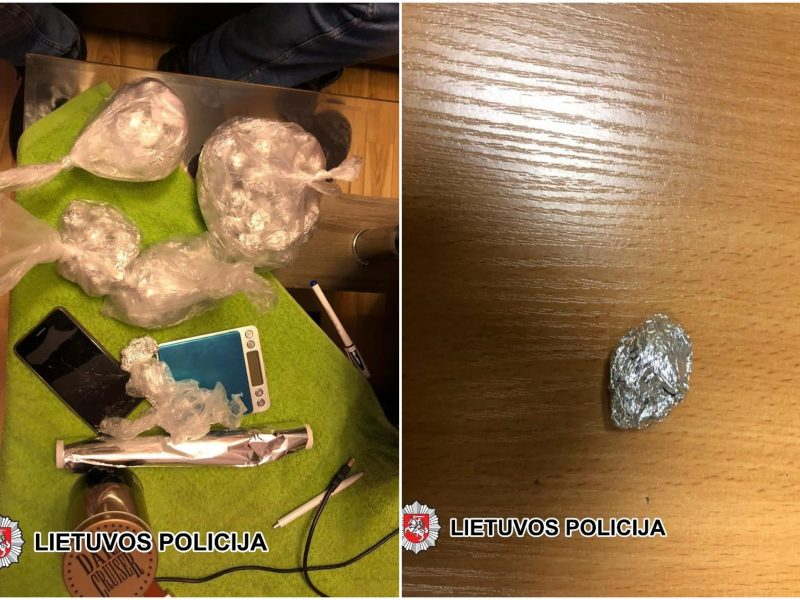 Šilutės rajone sulaikytas narkotinių medžiagų platintojas ir jo klientas