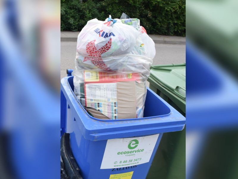 Prašymas Klaipėdos individualių valdų savininkams: naudokite skaidrius maišus
