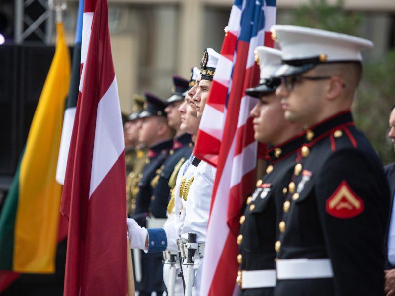 Vilniuje minimos sovietų okupaciją pasmerkusios JAV deklaracijos metinės
