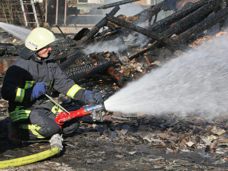 Trakų rajone nuo žaibo sudegė namas – liko tik pamatai