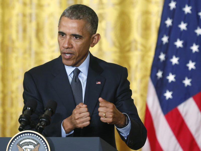 B. Obama įvardijo vienintelę galimybę užbaigti Izraelio ir Palestinos konfliktą