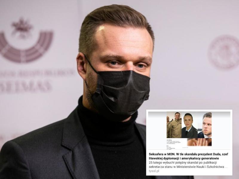 Lenkijos spaudoje įvykdyta informacinė ataka: taikiniu tapo G. Landsbergis