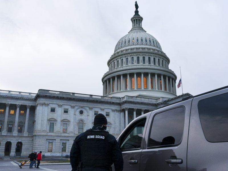 Netoli Kapitolijaus areštuotas vyras su pistoletu ir 500 šovinių