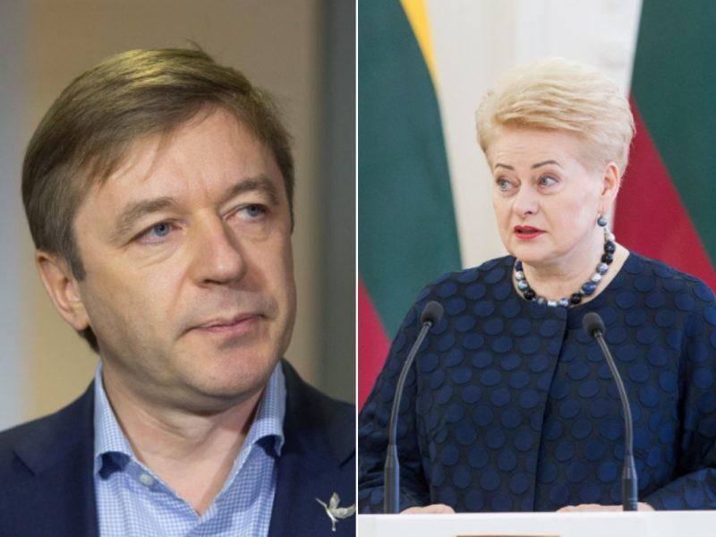 """R. Karbauskis: prezidentė nori parodyti, kad """"valdžia yra bloga"""""""