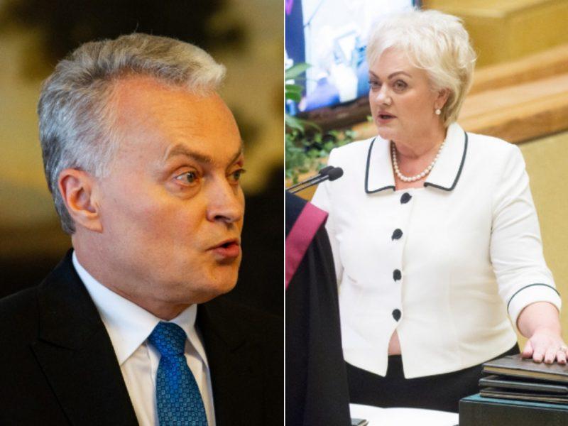 Prezidentas: I. Rozovos atvejis reikalauja labai atidaus dėmesio