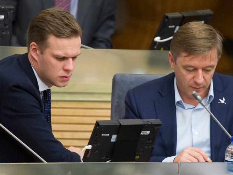 R. Karbauskis apie pokštą su G. Landsbergiu ant taikinio: čia skonio reikalas