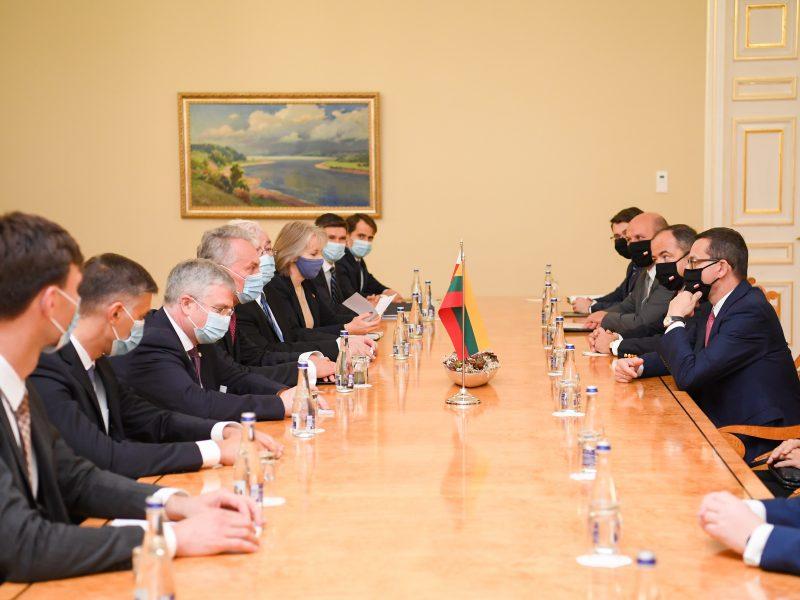 G. Nausėda susitiko su Lenkijos premjeru: aptarė situaciją Baltarusijoje