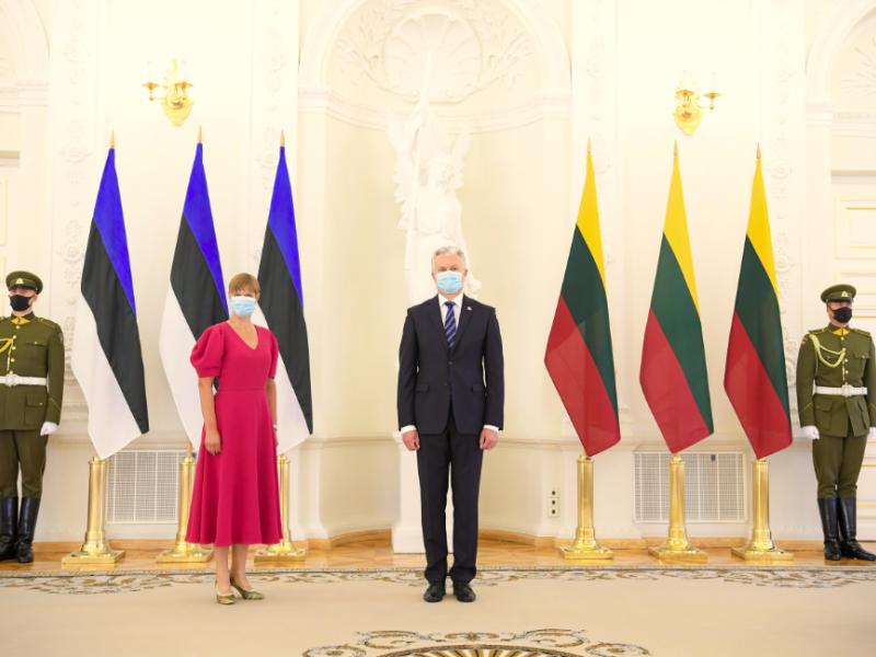 Lietuvos vadovai pasveikino Estiją 103-iųjų Nepriklausomybės metinių proga