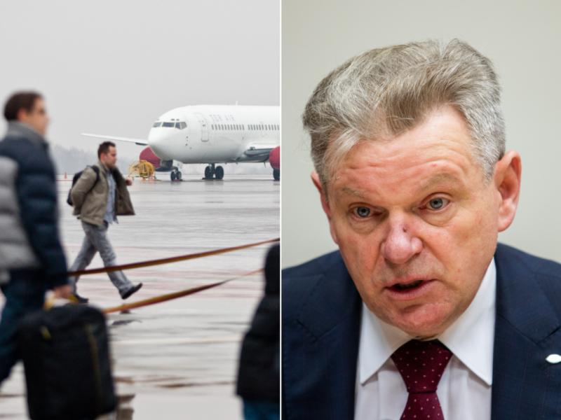 Ministras: yra atvejų, kai bilietus nusipirkę piliečiai neatvyksta į oro uostą