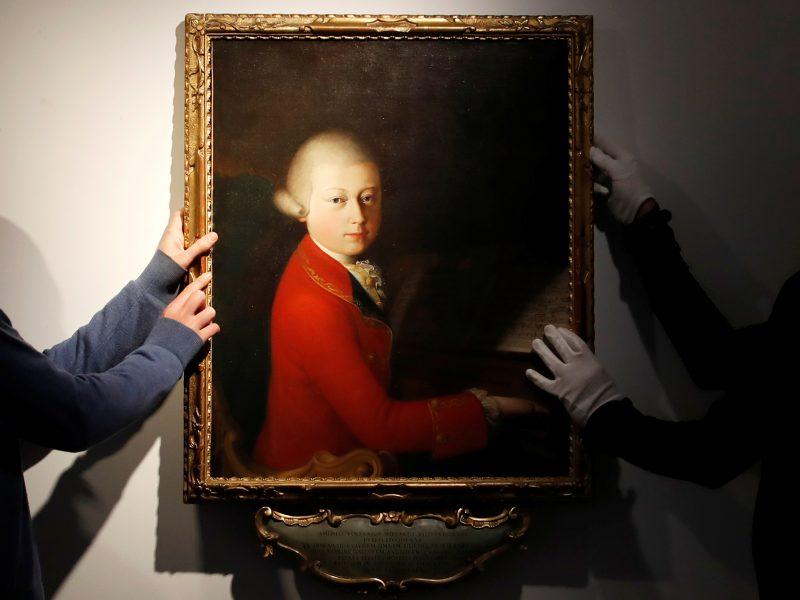 Aukcione Paryžiuje už 372 500 eurų parduota W. A. Mozarto partitūra