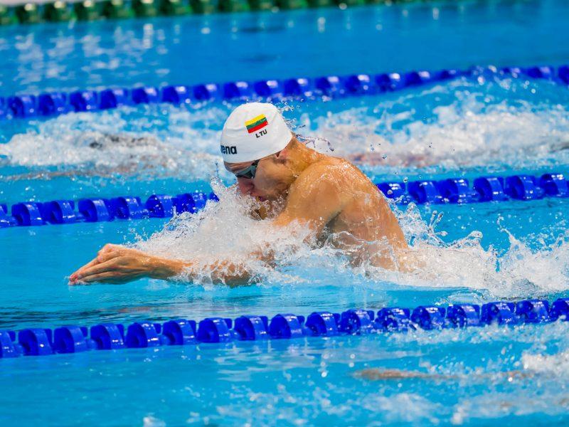 Tokijo olimpinių žaidynių plaukimo varžybose startavęs A. Šidlauskas į finalą nepateko