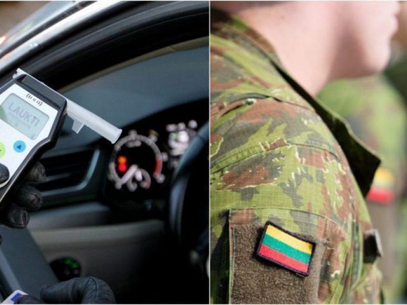 Vilniuje naktį sulaikytas automobilį vairavęs neblaivus Lietuvos kariuomenės karys