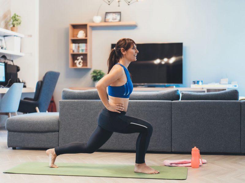 Sportas namuose: sėkmės paslaptis – disciplina