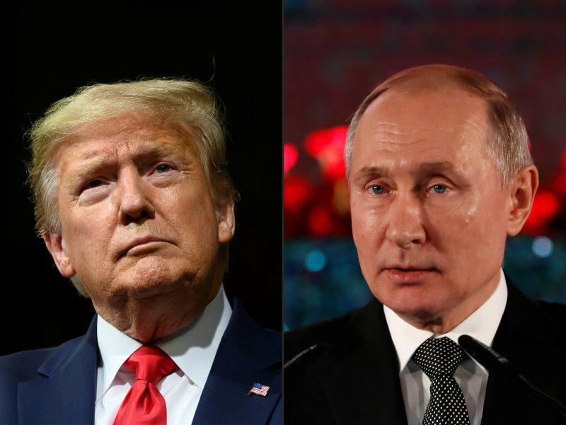 D. Trumpas ir V. Putinas paminėjo JAV ir sovietų pajėgų susitikimą prie Elbės