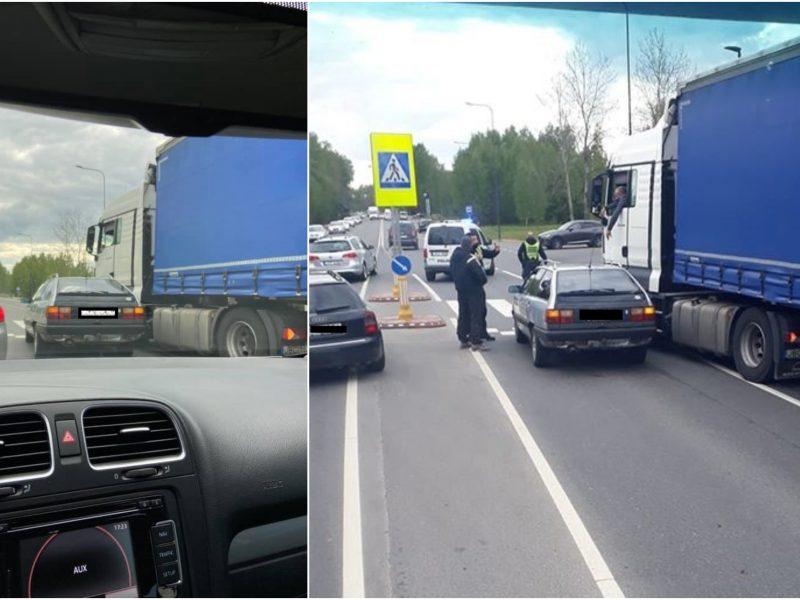 Ateities plente – dvi avarijos: pranešta, kad iš įvykio vietos pasišalino vairuotojas
