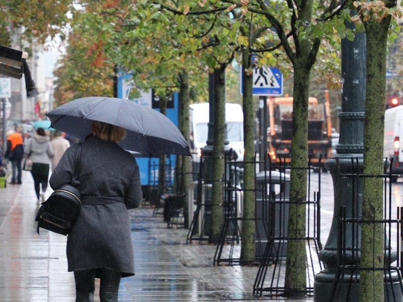 Orai: artimiausiomis dienomis lis, pūs stiprus vėjas