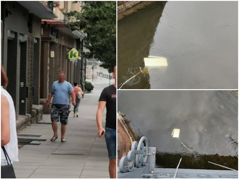Akibrokštas: nuo tilto numesta skalbimo mašina, tarnybos siuntinėjo viena pas kitą