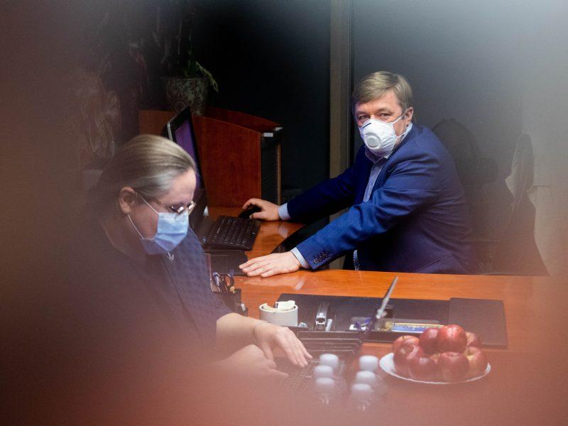Lietuvos valstiečių ir žaliųjų sąjungos būstinė laukia rinkimų rezultatų