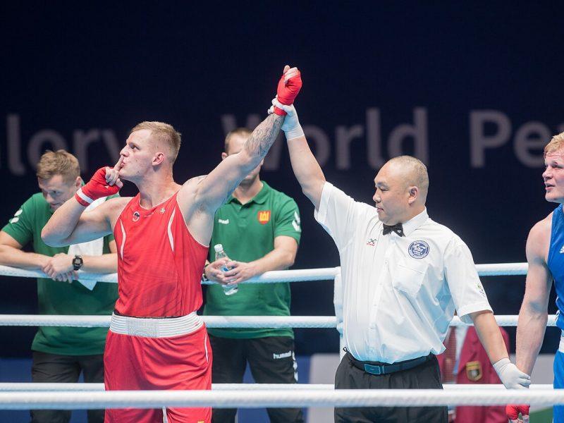 Boksininkas A. Baniulis užsitikrino pasaulio kariškių žaidynių medalį