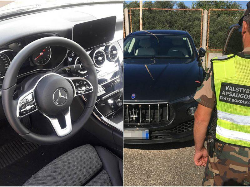 """Pasieniečių laimikis – prabangūs, užsienyje vogti """"Mercedes-Benz"""" ir """"Maserati"""""""