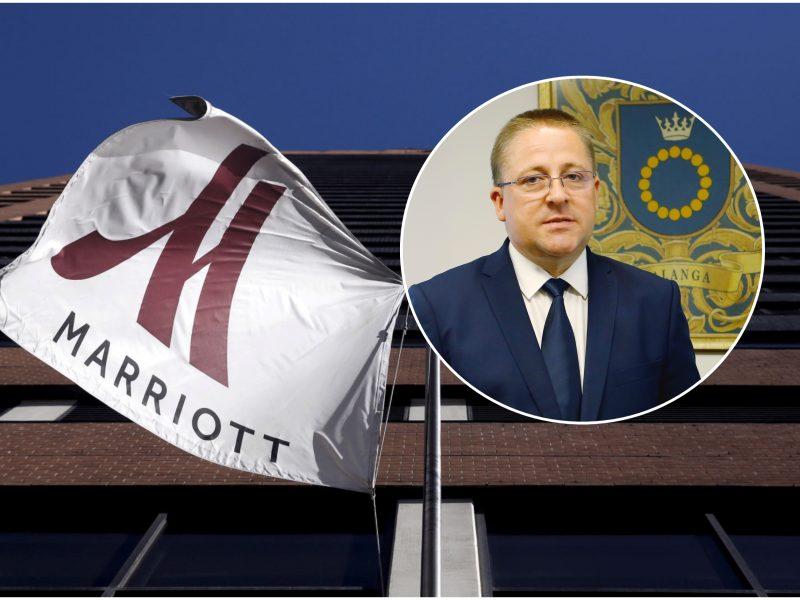 """Palangoje pradedama viešbučio """"Marriott"""" statyba"""
