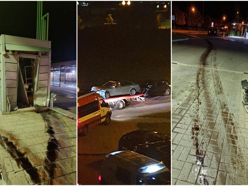 Nesuvokiamas vairuotojo elgesys: per šaligatvio bortelius ir žolynus – į gatvę