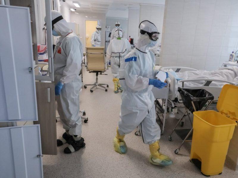 Rusijoje – per 12 tūkst. naujų COVID-19 atvejų, 201 žmogus mirė