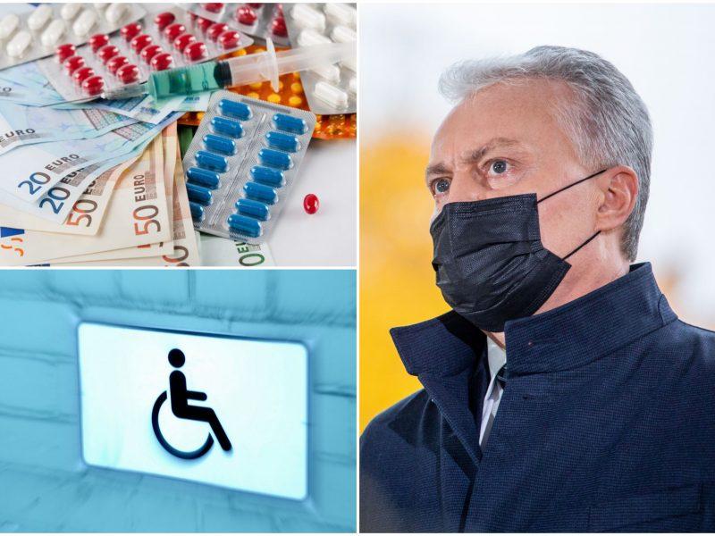 G. Nausėda siūlo keisti neįgaliųjų įdarbinimą ir vaistų priemokų mokėjimą