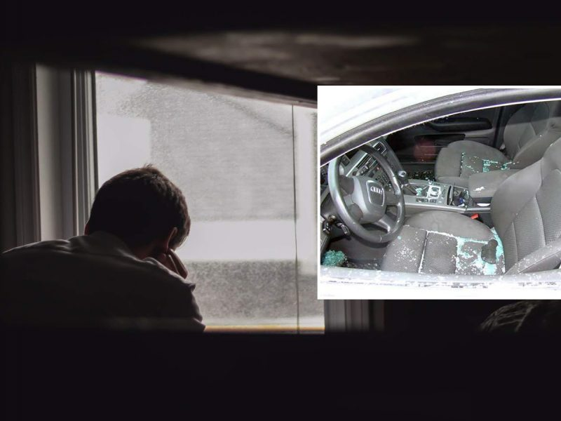 Neeilinis incidentas Klaipėdoje: vyras pro langą pamatė, kaip daužomas jo automobilis