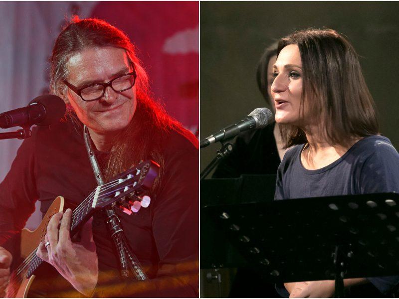 """O. Ditkovskis ir Neda – įžanginiame bardų festivalio """"Purpurinis vakaras"""" koncerte"""