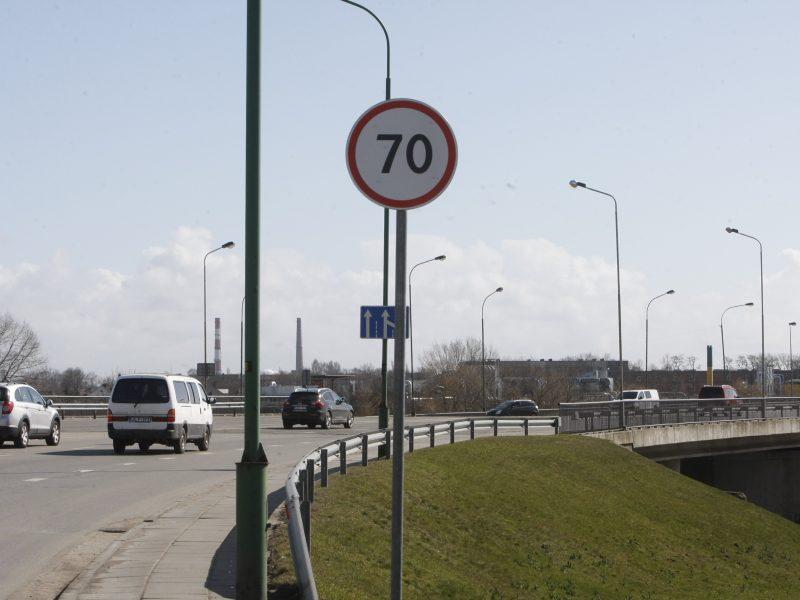 Dėmesio: dviejose Klaipėdos gatvėse leista važiuoti greičiau