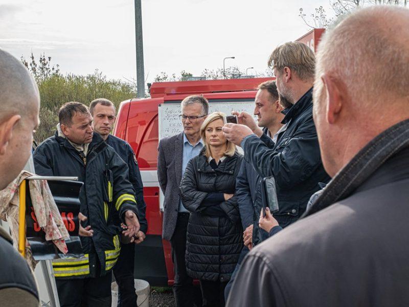 Valstybės ekstremalių situacijų komisija apsilankė Alytaus gaisravietėje