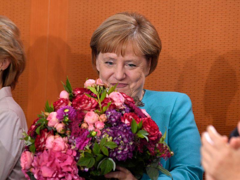 A. Merkel mini 65 metų sukaktį: pasveikino ir G. Nausėda