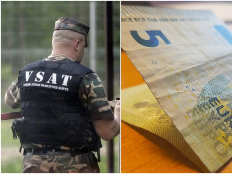 Dėl cigarečių sulaikytas rusas pasieniečiui siūlė penkių eurų kyšį