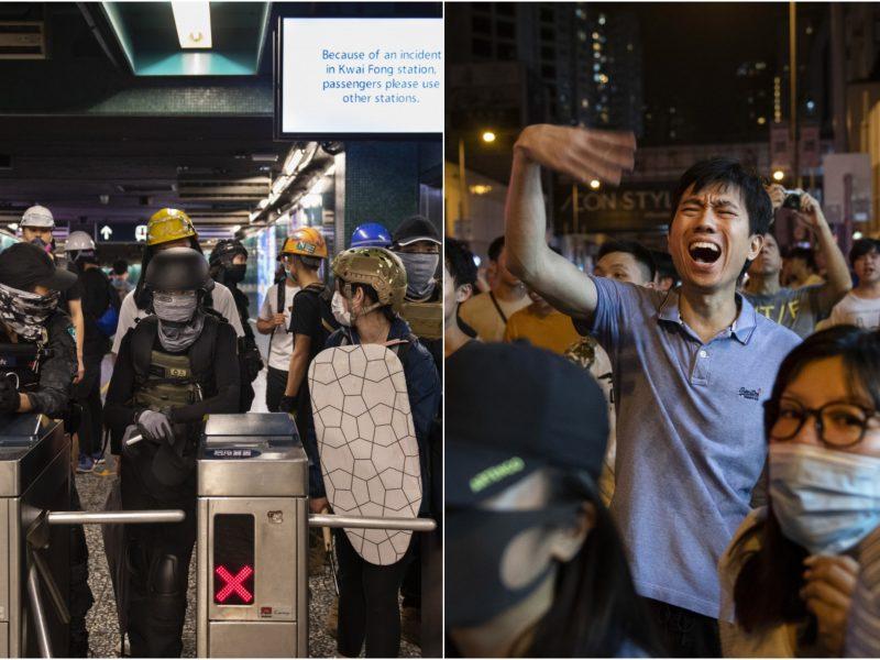Honkonge vėl kilo susirėmimai tarp protestuotojų ir policininkų