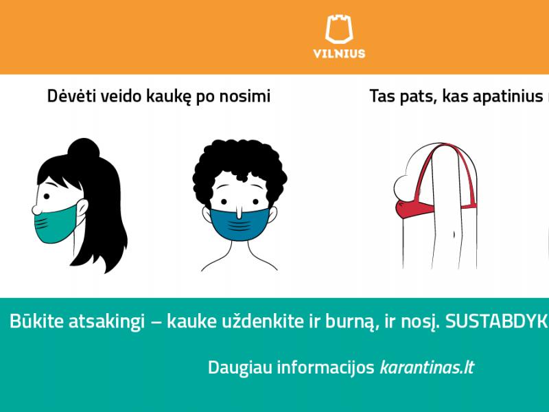 Interneto pokštas tapo kampanija už tinkamą kaukių dėvėjimą: per nosį irgi kvėpuojame