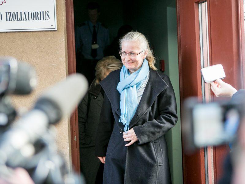 N. Venckienė iš Kauno tardymo izoliatoriaus išėjo į laisvę
