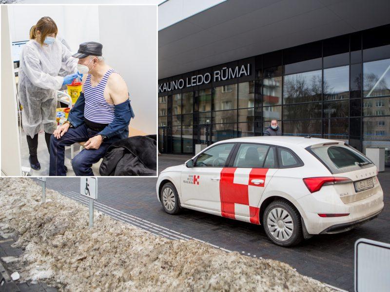 Darbą pradeda didžiausias vakcinavimo centras Lietuvoje – Kauno ledo rūmai <span style=color:red;>(vaizdo įrašas)</span>