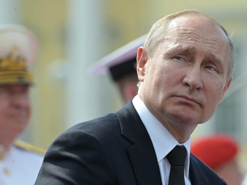 Ukrainos ministerija reiškia protestą dėl V. Putino kelionės į Krymą