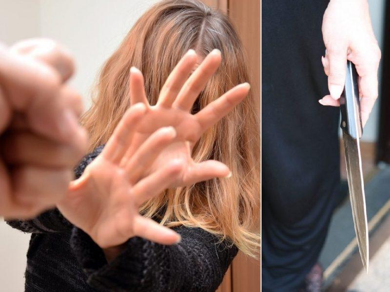Konfliktas: moteris dūrė vyrui peiliu, o šis jai prakirto antakį