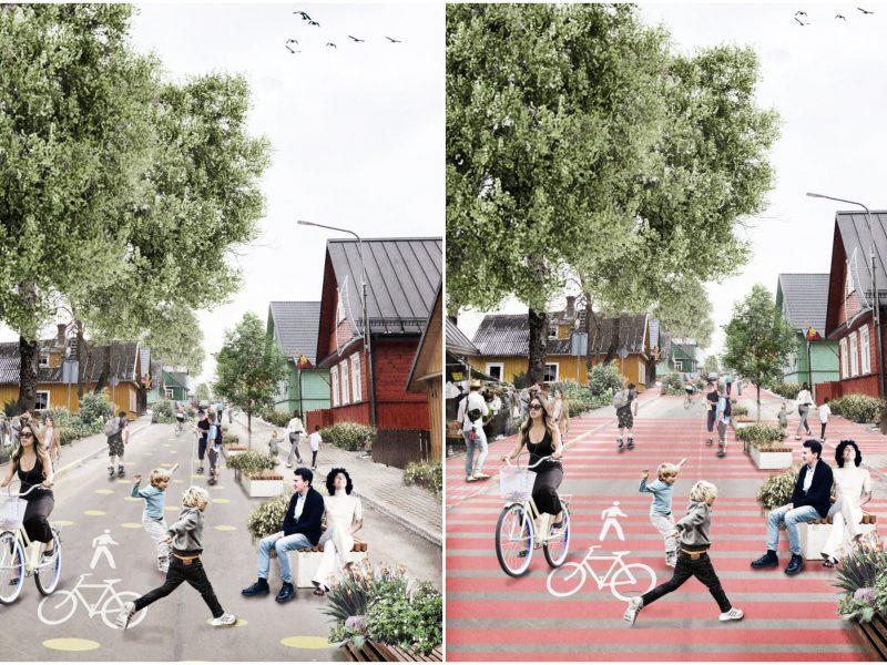 Karaimų gatvėje Trakuose svarstoma įrengti pėsčiųjų zoną