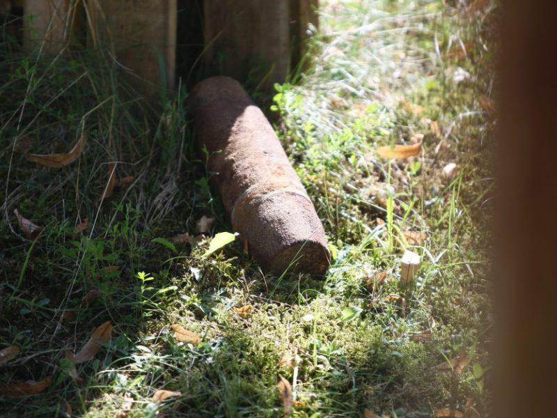 Tvarkant vieną iš Kauno fortų aptiktas pavojingas radinys