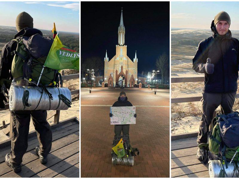 500 km pėsčiomis po Lietuvą: svajonėse – įveikti kur kas didesnį atstumą