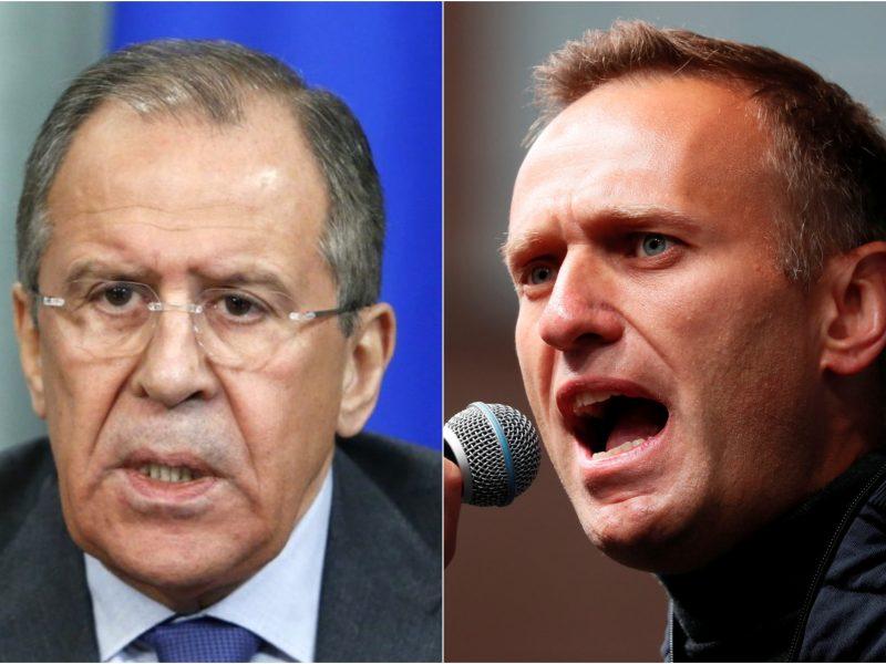 S. Lavrovas: Rusija atsakys į galimas Vakarų sankcijas dėl A. Navalno