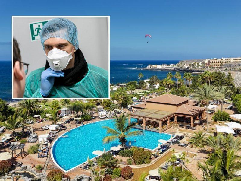 URM: dėl koronaviruso uždarytame Tenerifės viešbutyje – trys lietuviai