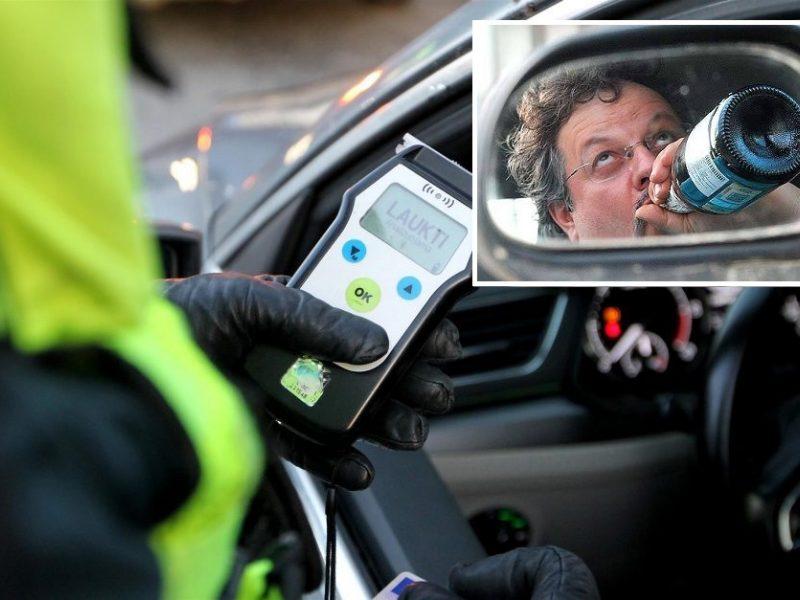 Į trasą – ir gerokai alkoholio padauginę vairuotojai