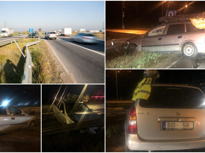 Policijos abejingumas: po avarijos paliko vienus magistralėje