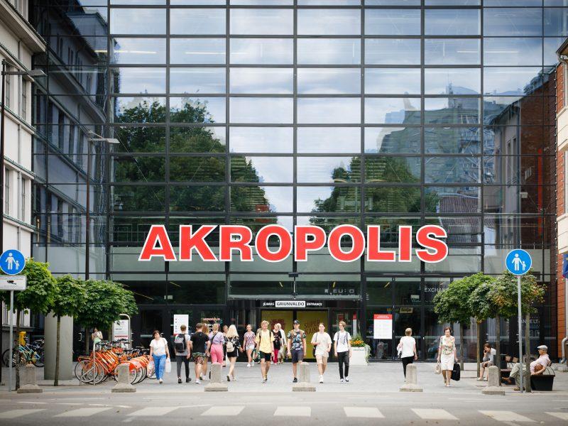 """Dėl karantino Kauno """"Akropolio"""" darbo laikas nesikeičia, dalis paslaugų neveiks"""